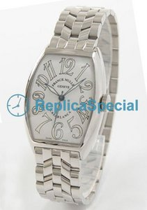 Franck Muller Casablanca 5850CASA roestvrij stalen ring White Dial Mens Watch