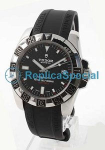 Glamour Tudor Date - Day Lady TD20030CBKRBK Stainless Steel Case Black Dial Mens Watch